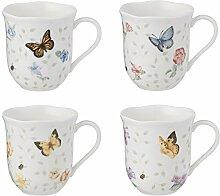 Lenox Butterfly Meadow Becher, Porzellan, weiß,