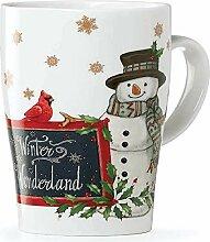 Lenox Holiday Tasse Schneemann mit Kardinal, 473