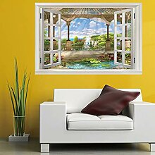 Leoljc Hof 3D Gefälschte Fenster Landschaft
