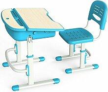 Leomark Ergonomischer Schreibtisch und Stuhl - Blau
