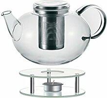 Leonardo 014666 Set Teekanne mit Stövchen Moon