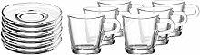 LEONARDO 032832 LOOP 12tlg. Espressoset, Glas