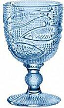 Leonardo 24056 Weinglas / Safitglas / Wasserglas - LIDO - Fischmotiv - Glas - blau - 300 ml