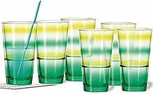 Leonardo Becher Set/6 grün/limone Event m. gratis