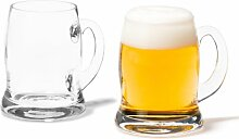 Leonardo Brauhaus Bier-Glas, handgefertigter