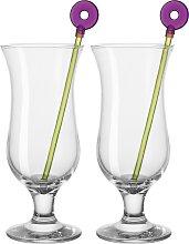 LEONARDO Cocktailglas Hurricane, (Set, 12 tlg., 6