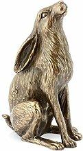 Leonardo Collection Kunstharz Hase Figur, Bronze