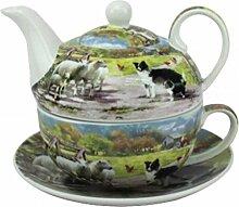 Leonardo Collie und Schafe China One Set Teekanne