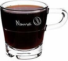 Leonardo Espressotasse aus Glas - Kaffeebohne -