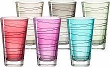 LEONARDO Glas Colori, (Set, 6 tlg.), Veredelte mit