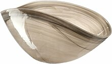 Leonardo Glas Schale Alabastro, 38 x 20 cm, beige
