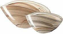 Leonardo Glas Set 2 Schalen Alabastro, beige