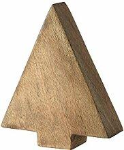 Leonardo Mangoholz Tanne, Holzdeko, Dekoration, Handgefertigt, Holz, H 14.5 cm, 41516