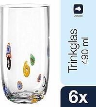 Leonardo Millefiori Trink-Gläser, handgefertigte