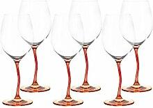 Leonardo Modella Weinglas orange/rot Set 6tlg.
