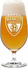 LEONARDO Pilstulpe mit Gravur Motiv Fußball -
