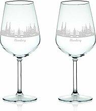 Leonardo Weinglas mit Gravur - Skyline Bamberg im