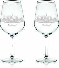 Leonardo Weinglas mit Gravur - Skyline Budapest im