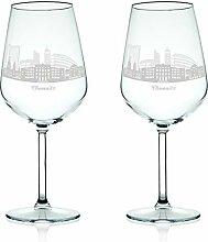 Leonardo Weinglas mit Gravur - Skyline Chemnitz im