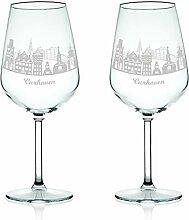 Leonardo Weinglas mit Gravur - Skyline Cuxhaven im