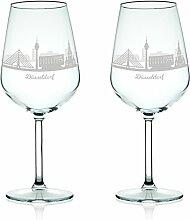 Leonardo Weinglas mit Gravur - Skyline Düsseldorf