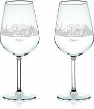 Leonardo Weinglas mit Gravur - Skyline Erfurt im