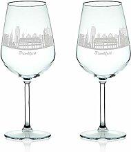 Leonardo Weinglas mit Gravur - Skyline Frankfurt