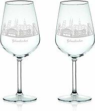 Leonardo Weinglas mit Gravur - Skyline