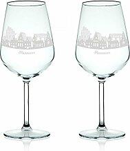 Leonardo Weinglas mit Gravur - Skyline Hannover im