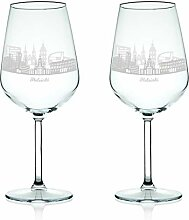 Leonardo Weinglas mit Gravur - Skyline Helsinki im
