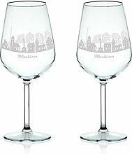 Leonardo Weinglas mit Gravur - Skyline Ibbenbüren