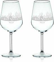 Leonardo Weinglas mit Gravur - Skyline Kassel im