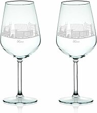 Leonardo Weinglas mit Gravur - Skyline Linz im Set