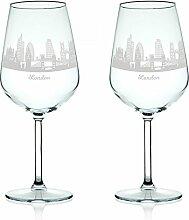 Leonardo Weinglas mit Gravur - Skyline London im