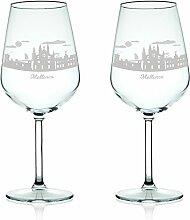 Leonardo Weinglas mit Gravur - Skyline Mallorca im