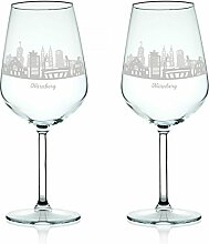 Leonardo Weinglas mit Gravur - Skyline Nürnberg