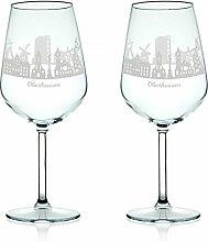 Leonardo Weinglas mit Gravur - Skyline Oberhausen