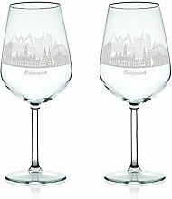 Leonardo Weinglas mit Gravur - Skyline Österreich