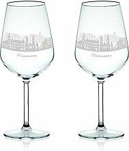 Leonardo Weinglas mit Gravur - Skyline Pirmasens