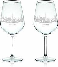 Leonardo Weinglas mit Gravur - Skyline Potsdam im