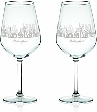 Leonardo Weinglas mit Gravur - Skyline Ruhrgebiet