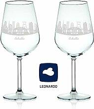 Leonardo Weinglas mit Gravur - Skyline Schalke im