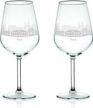 Leonardo Weinglas mit Gravur - Skyline Soest im