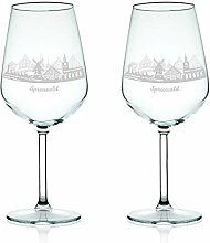 Leonardo Weinglas mit Gravur - Skyline Spreewald