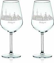 Leonardo Weinglas mit Gravur - Skyline Stuttgart