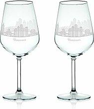 Leonardo Weinglas mit Gravur - Skyline Vancouver
