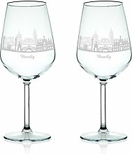 Leonardo Weinglas mit Gravur - Skyline Venedig im