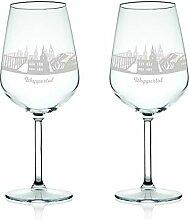 Leonardo Weinglas mit Gravur - Skyline Wuppertal