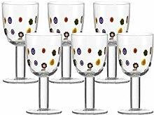 Leonardo Weißwein-Glas 6er-Set Millefiori