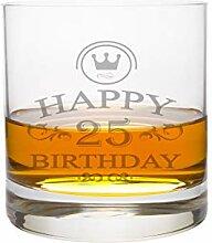LEONARDO Whiskeyglas 25 Jahre Gravur - Geburtstag